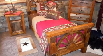 rustic bed plans for teenagers