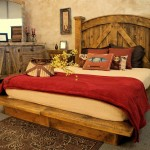 rustic bed plans with big bedstand