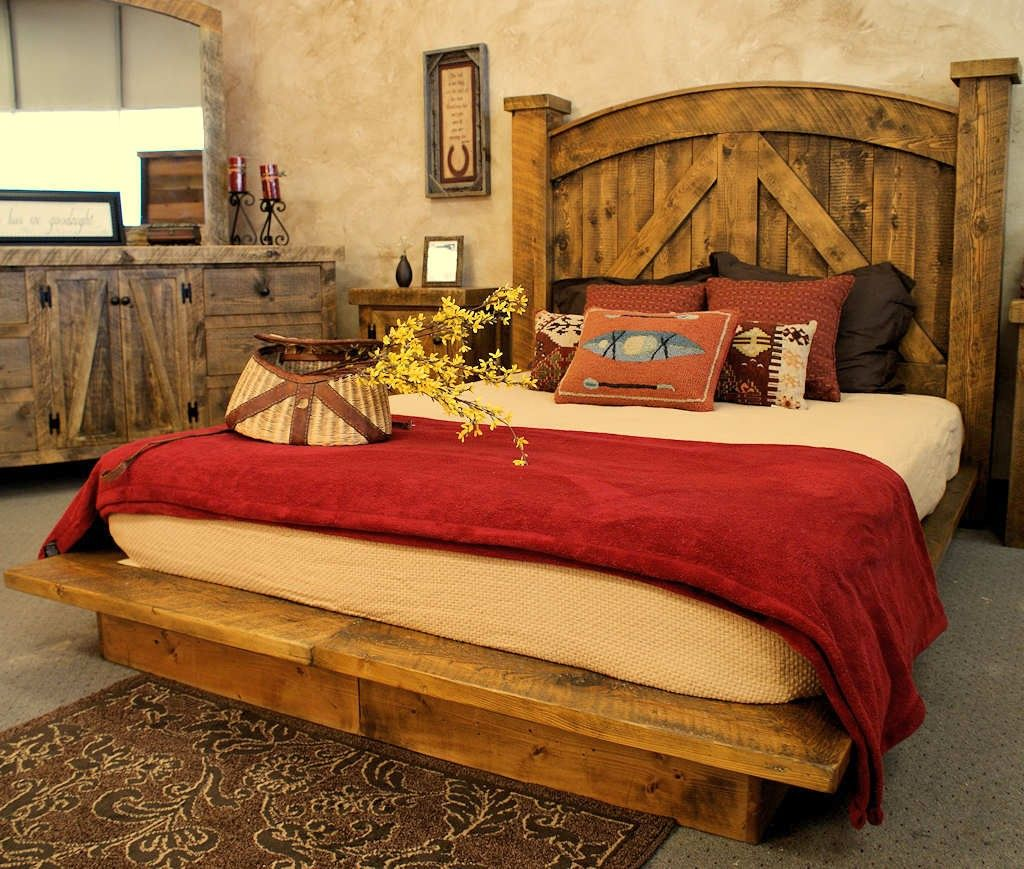 20 Wooden Rustic Bed Plans For Sweet Brownie Atmosphere