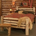 rustic bed plans with teak wood