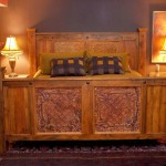rustic bed plans with tudor element