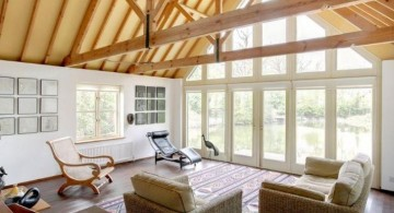rustic contemporary vaulted ceilings