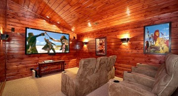 rustic entertainment room