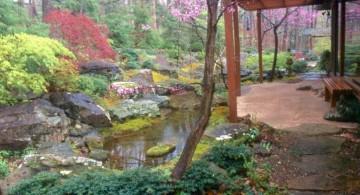 rustic japanese style backyard