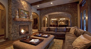 rustic living room ideas for basement living room
