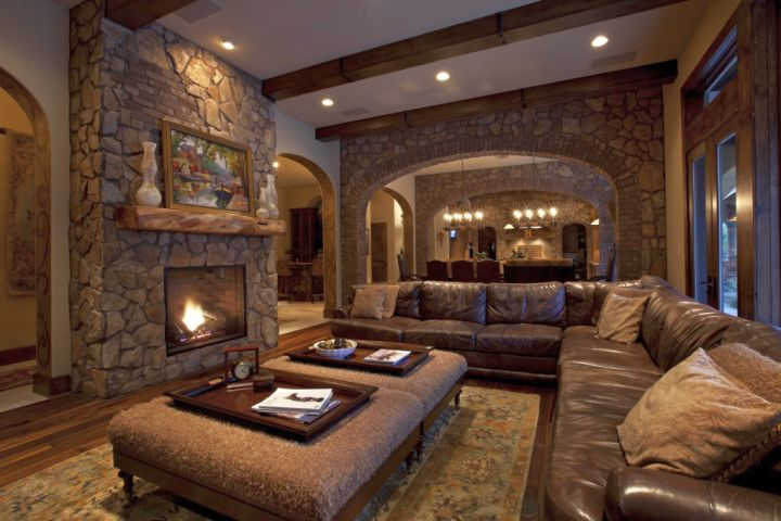 rustic living room ideas for basement living room