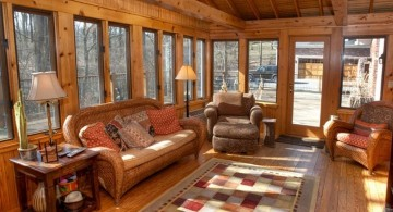 rustic living room ideas with skylight