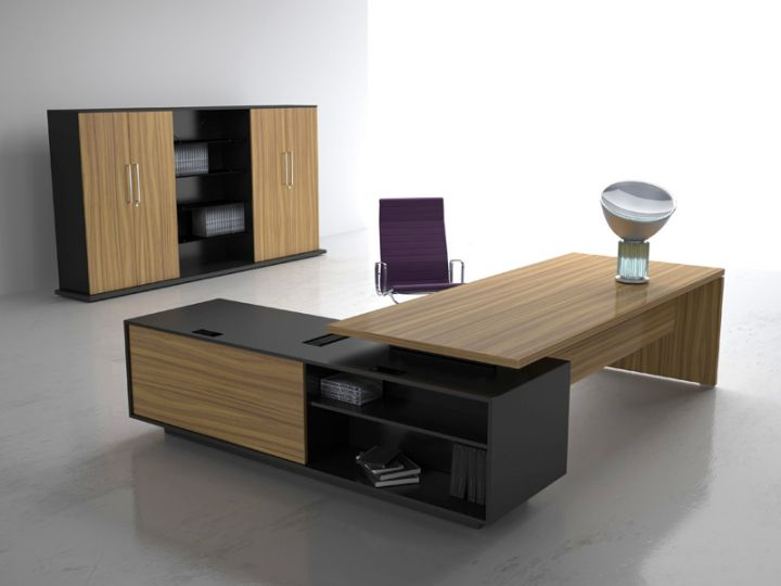 Office Desk Design Ideas 30 inspirational home office desks Rustic Sleek Office Desk With Black Shelf