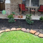 rustic stones for flower beds