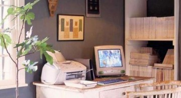 rustic stylish home office