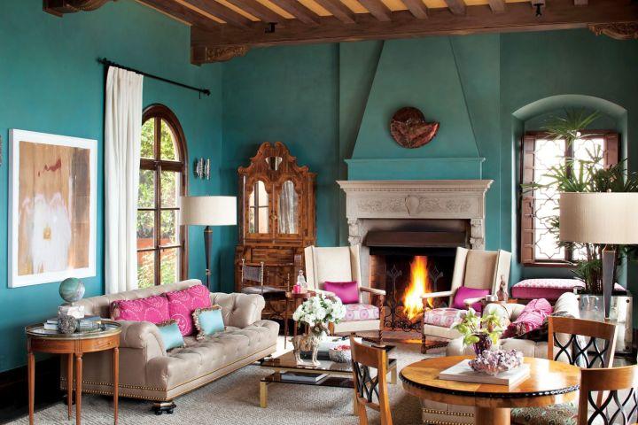 17 Breathtaking Turquoise Living Room Ideas