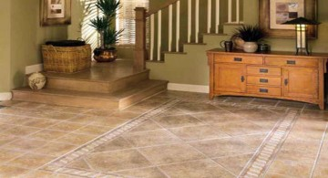 rustic with marble tile flooring ideas for living room