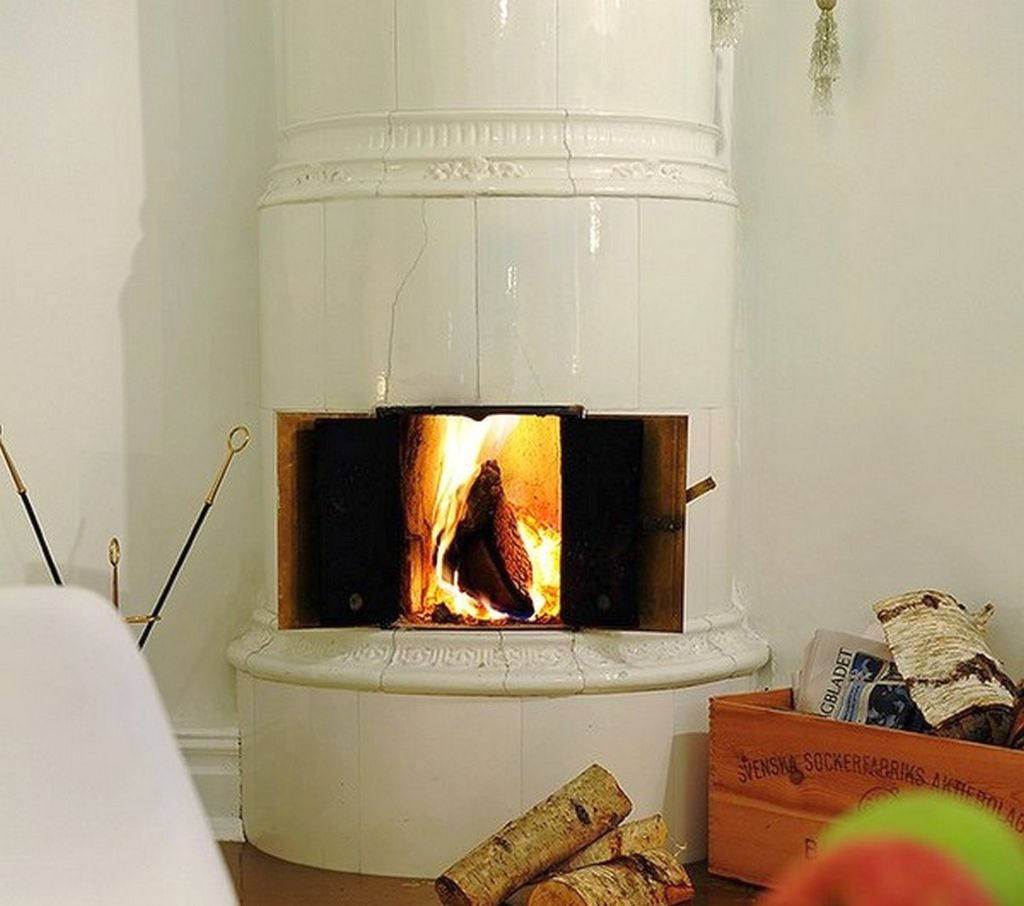 Fireplace Design Ideas stone fireplace design ideas to personalize your fire space Scandinavian Fireplace Design Ideas In The Corner