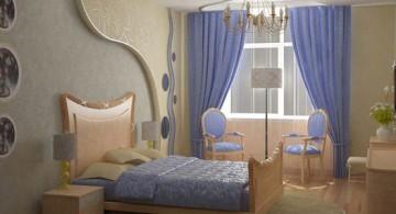 sea blue teenage girl curtain designs