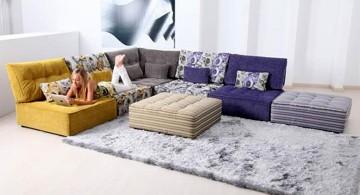sectional modular sofas with rug