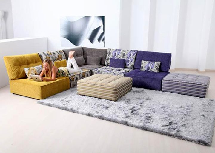 sectional modular sofas with rug
