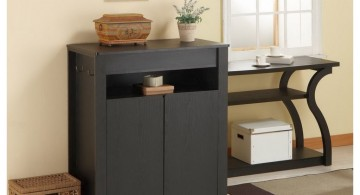 shoe cabinets design ideas from dark wood