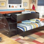 short cool bunk bed designs in dark wood