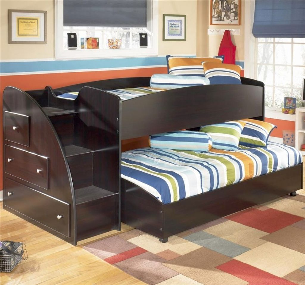 20 cool bunk bed designs your kids will love for Kids bed design