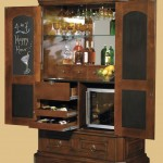 short with chalkboard doors contemporary wine cabinet