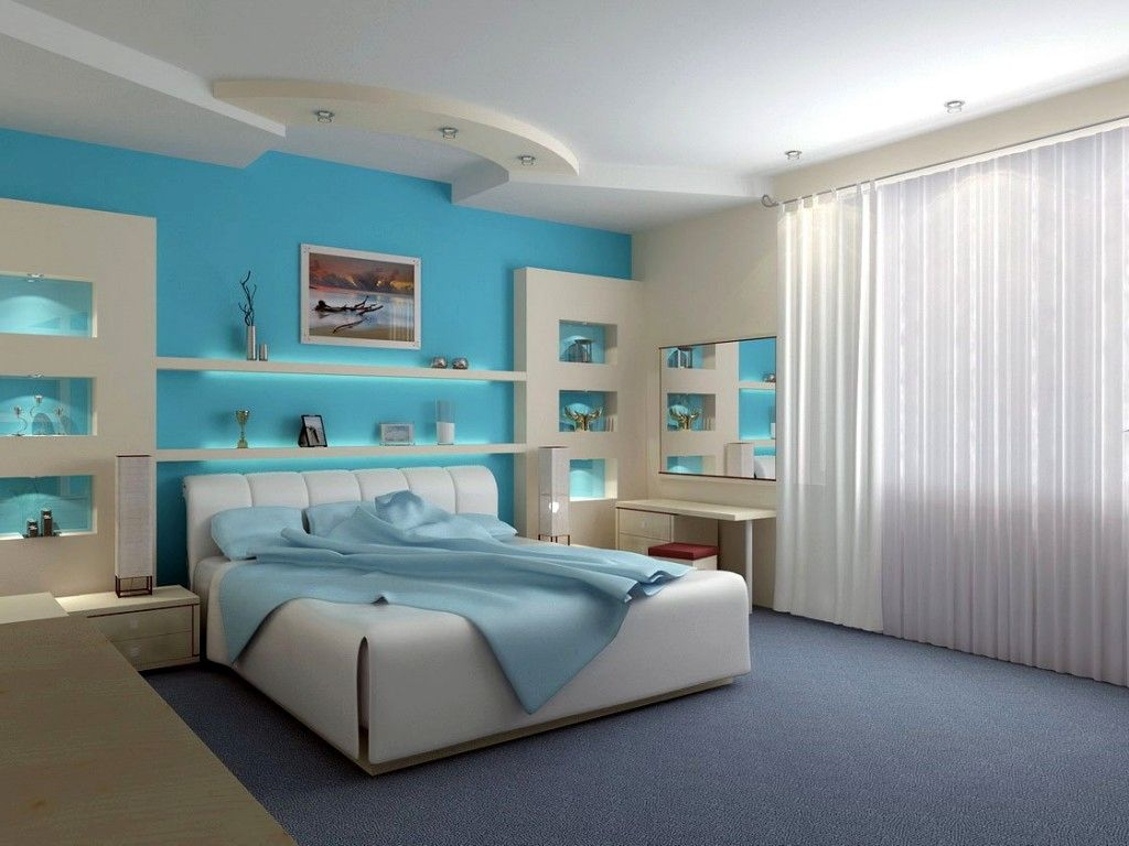 Blue Paint Bedroom Pleasing With Blue Bedroom Paint Ideas Images
