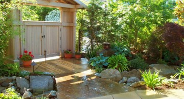 simple and classy Japanese garden backyard design