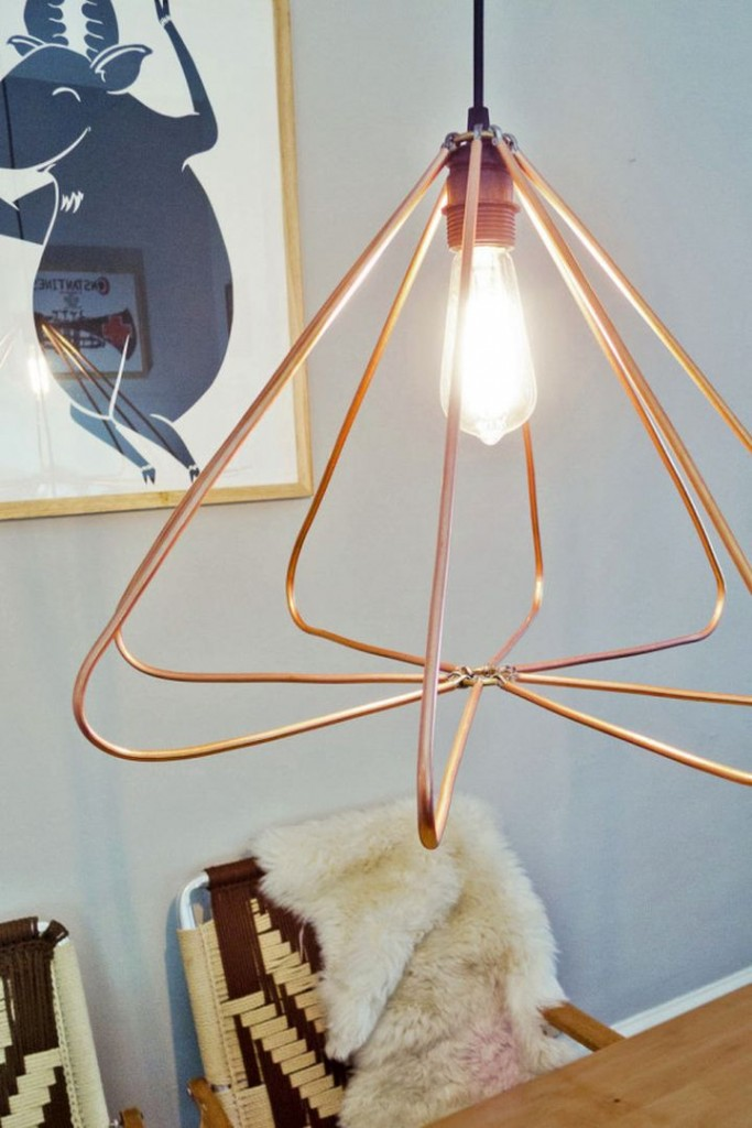 simple and easy making a pendant light