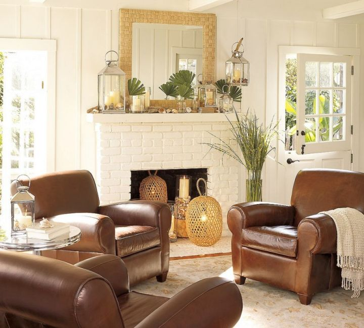 Simple And Minimalist Earth Tone Living Room With Big Couches Gorgeous Living Room Brown Couch Minimalist