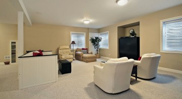 simple and minimalist lighting ideas for basement