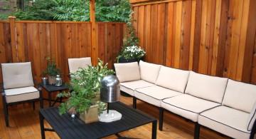 simple and sleek outdoor sitting room modern deck design