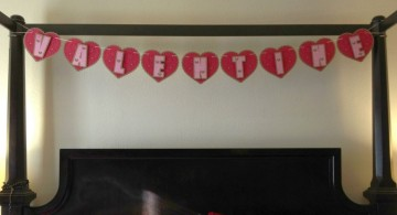 simple banner for bedroom decoration for valentines day