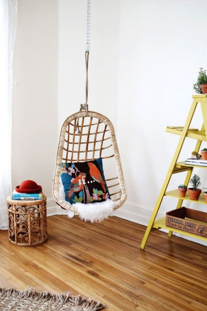 simple bedroom swing chair