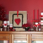 simple bedside drawers bedroom decoration for valentines day