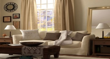simple beige living room walls
