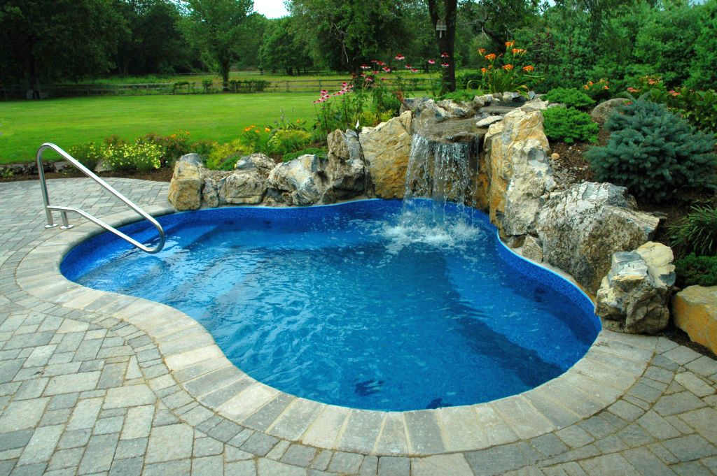 Simple Pool Designs natural modern design of teh lago in garda luxury villas that has brown deck pool can add the beauty inside the modern house design ideas with nice simple Gallery For Best Backyard Swimming Pool Designs