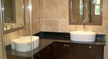 simple brown bathroom ideas