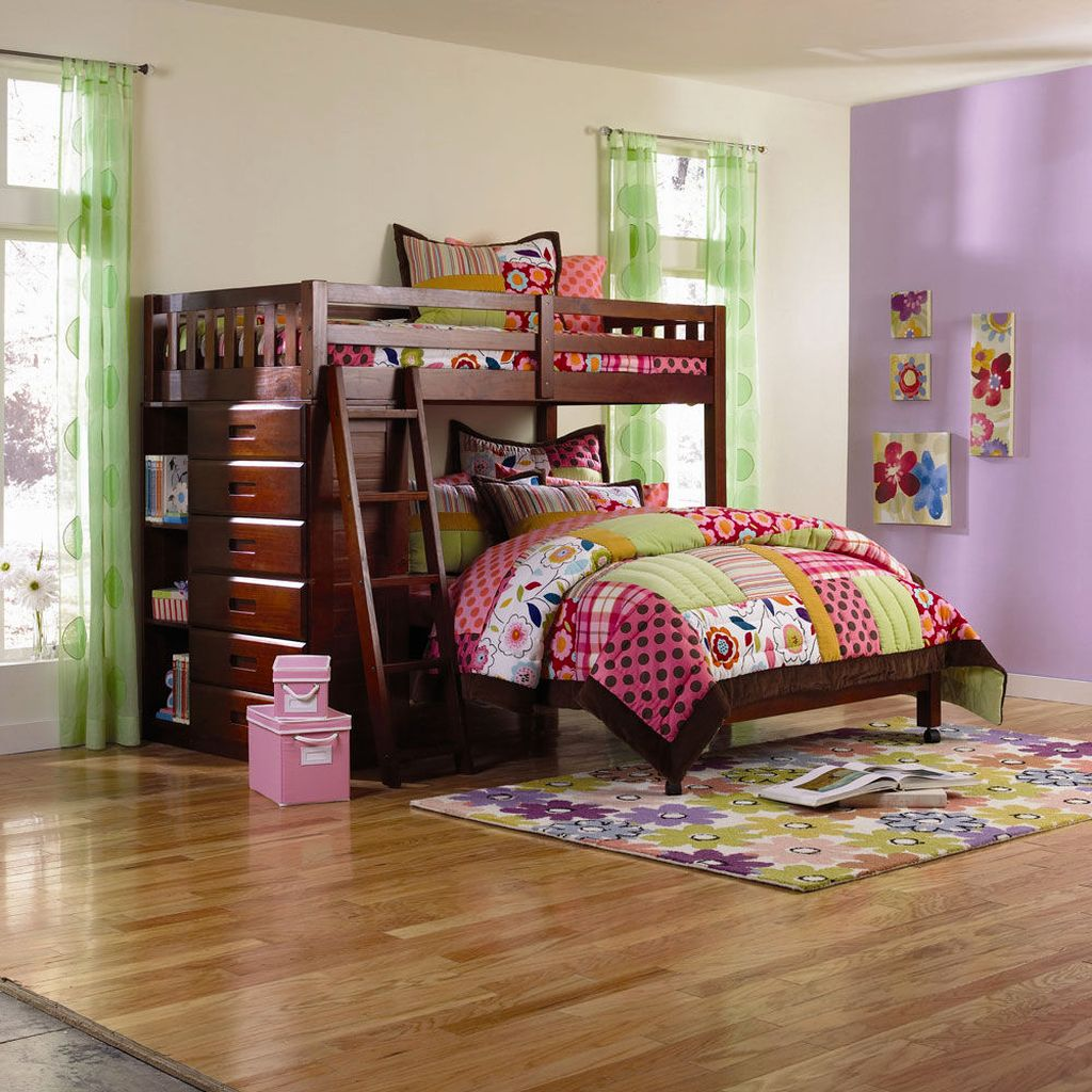 Twin Loft Bed Cherry