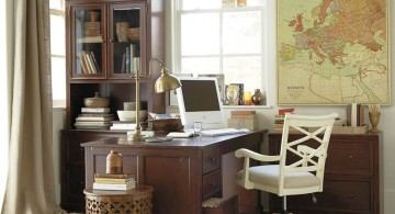simple but stylish home office