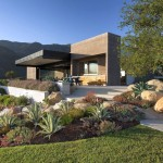 simple contemporary landscaping designs with big rocks