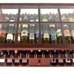 simple desk style contemporary wine cabinet
