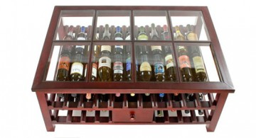 simple desk style contemporary wine cabinet