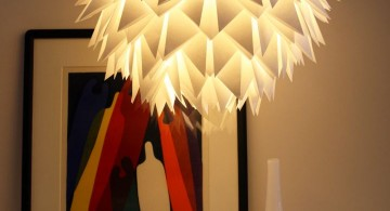 simple diy pendant lighting with folding paper