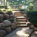 simple fences landscaping designs with big rocks