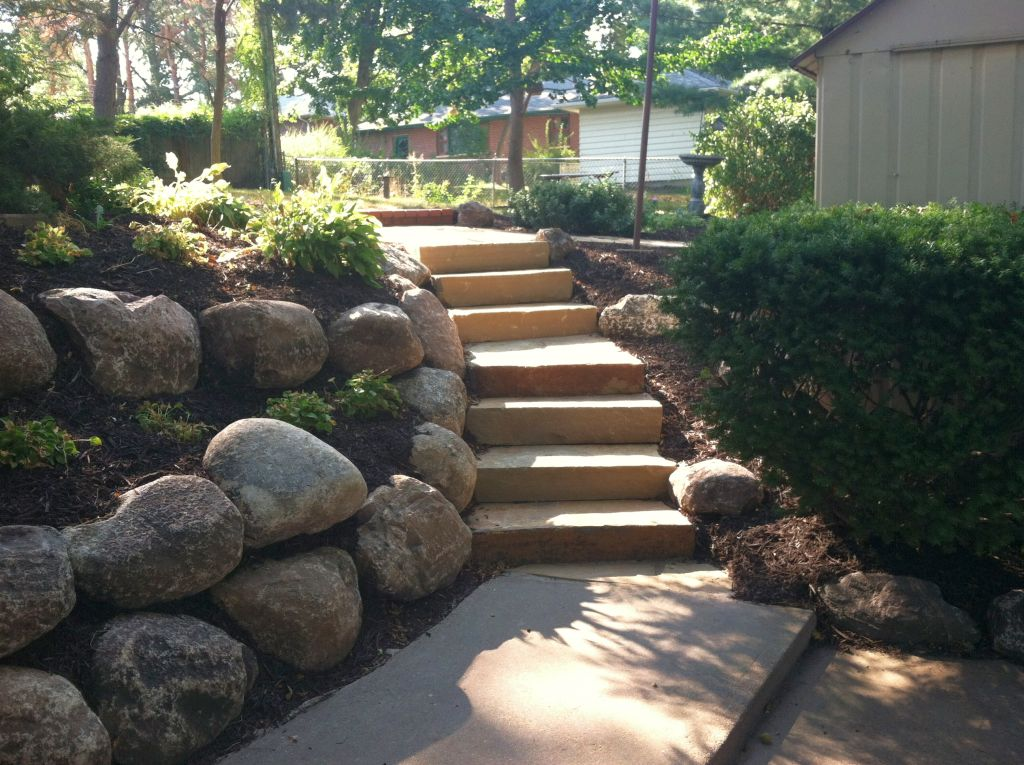 Landscaping ideas with big rocks : Simple fences landscaping designs with big rocks