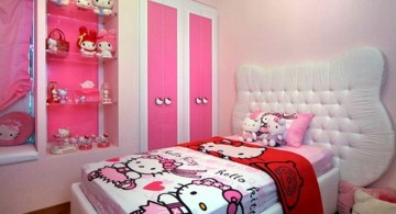 simple hello kity girls bedroom designs for small rooms