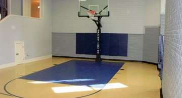 simple indoor home basketball courts