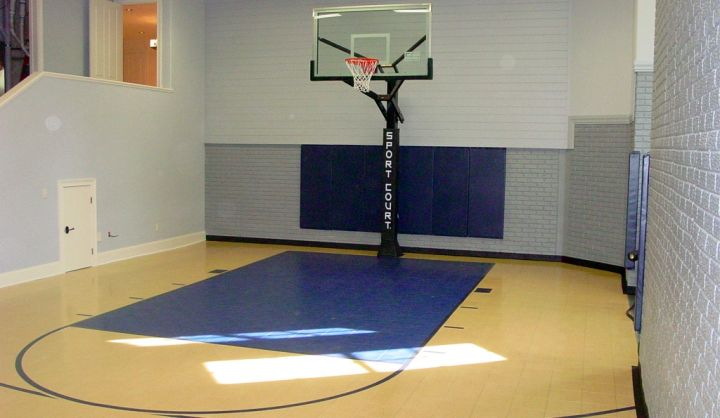 Indoor basketball court in house plans home design and style for Basketball hoop inside garage