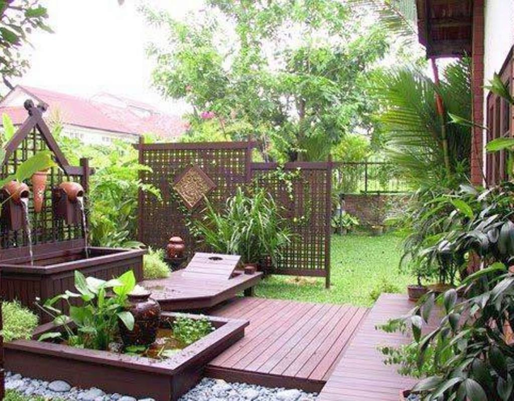 Simple Japanese Garden Designs For Small Spaces With Fountain