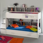 simple loft bed with desk white