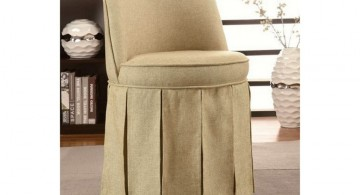 simple minimalist vanity chair with skirt